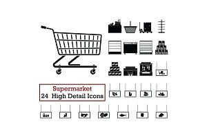 Set of 24 Supermarket Icons