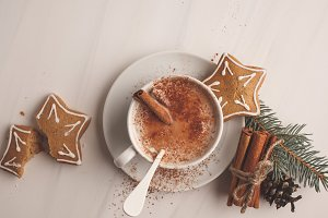 Christmas cocoa and cookies