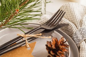 Christmas beautiful table setting