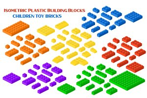 Isometric Building Block Bricks Toys