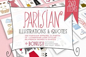 PARISIAN ILLUSTRATIONS & QUOTES