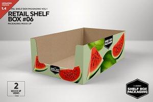 Retail Shelf Box 06 Packaging Mockup