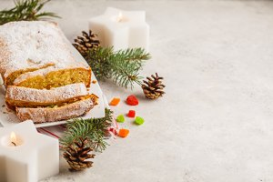 Christmas bread with candied fruits
