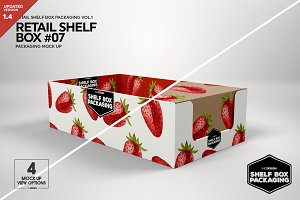 Retail Shelf Box 07 Packaging Mockup