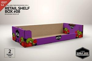 Retail Shelf Box 08 Packaging Mockup