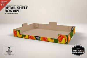 Retail Shelf Box 09 Packaging Mockup