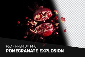 Pomegranate explosion - PSD file