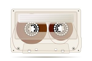 Realistic detailed audio cassette