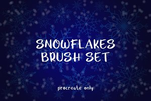 Snowflakes Brush Set - for Procreate