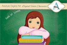 School Girl Character