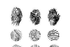 Different Imprints of the thumbs