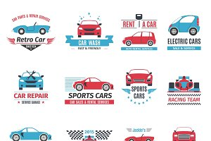 Car service logo set