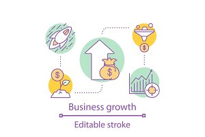 Business growth concept icon