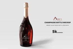 Amber Glass Champagne Mockup 01