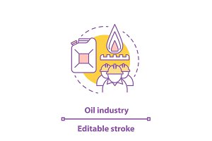 Oil industry concept icon