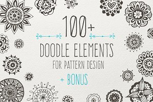 Doodle elements + 8 bonus patterns