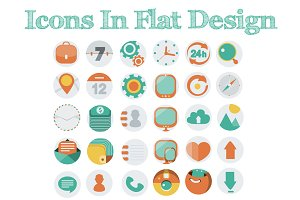 Icons In Flat Design