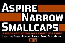 Aspire Narrow SmallCaps Family