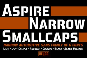Aspire Narrow SmallCaps Family