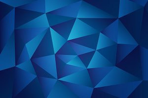 Blue Triangular Polygons Pattern