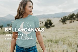 Women's Bella Canvas T-shirt Mockup