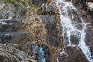Waterfall in Altai Mountains
