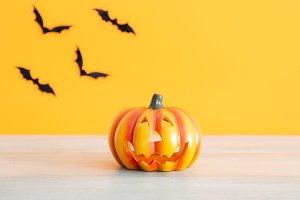 Pumpkin and bats