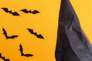Bats and a witch hat