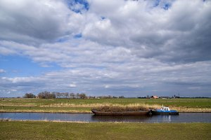 Boat on the river Linde