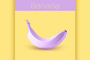Painted purple banana