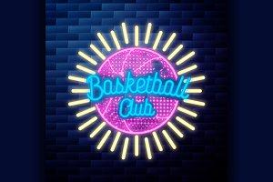 Vintage basketball emblem