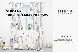 Nursery - Crib, Curtains & Pillows