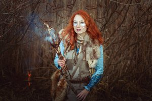 Pagan woman is a sorcerer.