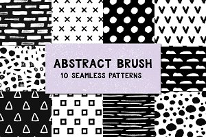 Abstract brush patterns
