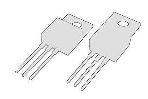 Isolated TO-220 MOSFET electronic