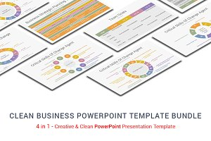 Clean Business Powerpoint -4 in 1