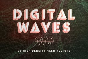 VECTOR+PNG | DIGITAL WAVES