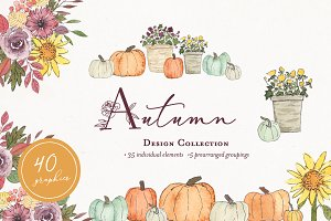 Autumn Fall Watercolor Clipart