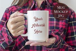 15oz Mug Mockup-res plaid shirt