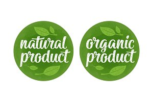 Natural organic product lettering