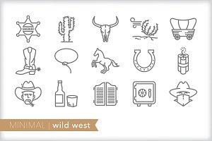 Minimal wild west icons