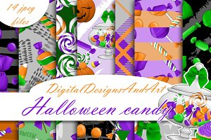 Halloween candy paper