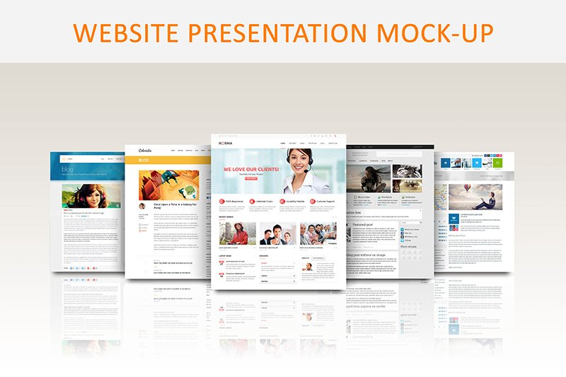 website presentation mock up product mockups creative market