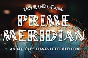 Prime Meridian Hand-Lettered Font