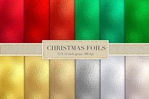 Christmas foil textures