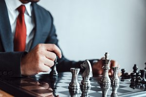 Retro style image of a businessman w