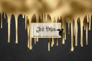 Foil Drips Overlays
