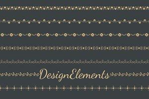 Divider design element vectors