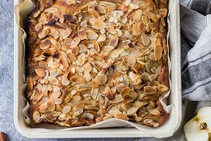 Homemade pies with apples and almond