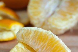 Fresh Peeled Oranges